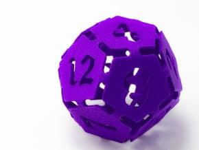 Big die 12 / d12 30mm / dice set in Purple Processed Versatile Plastic