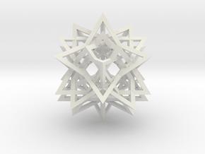 Tetrahedron 8 Compound in White Natural Versatile Plastic