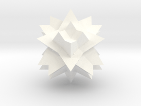 Tetrahedron 8 Compound, Solid in White Processed Versatile Plastic