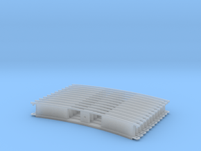 Monorail Curved Rail Gen 2 Set of 12 in Smooth Fine Detail Plastic: 1:24