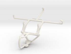 Controller mount for PS3 & Sony Xperia C3 in White Natural Versatile Plastic