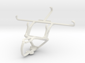 Controller mount for PS3 & verykool s5015 Spark II in White Natural Versatile Plastic