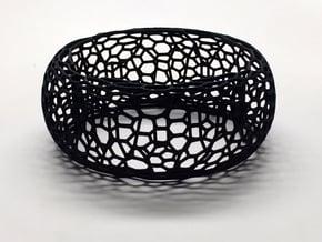 Honeycomb Bangle in Black Natural Versatile Plastic: Small