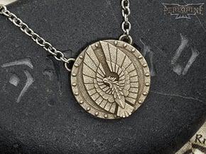 Pendant - Aldmeri Dominion in Polished Bronzed Silver Steel