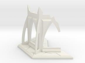 Gothic Temple Ruin in White Natural Versatile Plastic