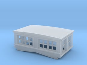 HO CN Plywood Sheathed Flanger Cupola in Smooth Fine Detail Plastic