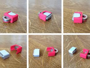KeyBit+ Cover (beta) in Red Processed Versatile Plastic