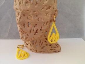Teardrop Monogram Earrings Large (customizable) in Yellow Processed Versatile Plastic