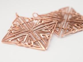 Celtic Knot Earring in 14k Rose Gold Plated Brass