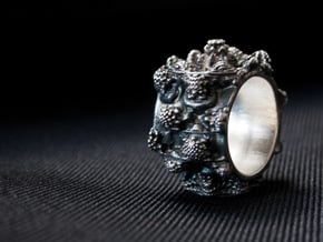 Mandelring of the 7'th Power - 20mm in Natural Silver