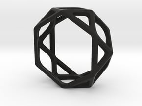 Structural Ring size 8 in Black Natural Versatile Plastic