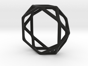 Structural Ring size 11,5 in Black Natural Versatile Plastic