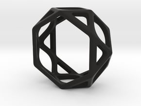 Structural Ring size 5 in Black Natural Versatile Plastic