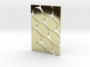 Youniversal Cardholder, Structured, Accessoir in 18k Gold Plated Brass