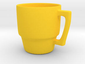 Simple Mug in Yellow Processed Versatile Plastic