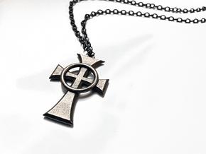 "Boondock Saints - Celtic Cross pendant - 1-1/2"" in Polished Bronzed Silver Steel"