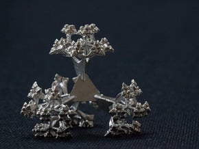 Spore Fractal in Natural Silver