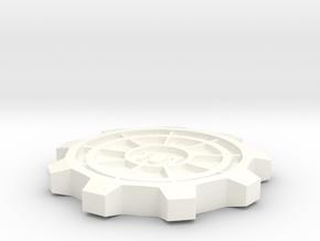Vault Door Pint Coaster in White Processed Versatile Plastic