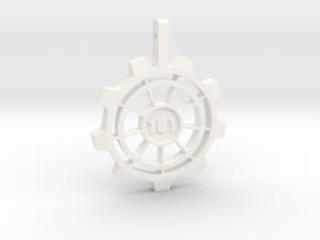 Vault Pendant in White Processed Versatile Plastic