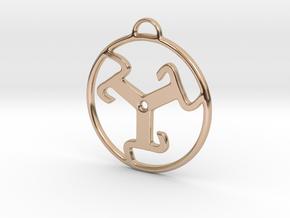 Triskele Kazako in 14k Rose Gold Plated Brass
