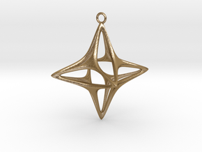 Christmas Star No.1 in Polished Gold Steel