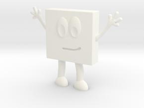 Jessica Geo Square 5 in White Processed Versatile Plastic
