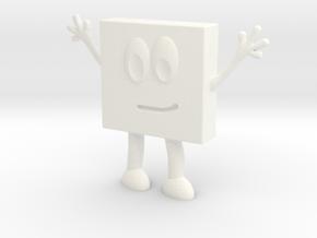 Jessica Geo Square in White Processed Versatile Plastic