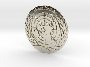 United Nations Logo Precious Metal Coin in 14k White Gold