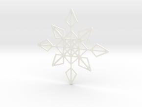 Shapeways Flake 1 in White Processed Versatile Plastic