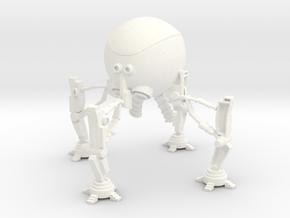 Mechan 3dPrint Metalic Plastic in White Processed Versatile Plastic
