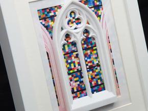 Gothic window  in White Processed Versatile Plastic