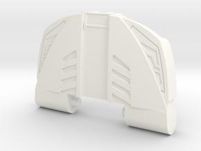 GTR Faux Bonnet Chest Plate in White Processed Versatile Plastic