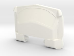 GTR Faux Roof Chest Plate in White Processed Versatile Plastic