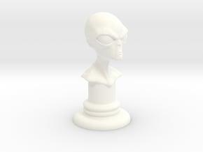 Alien-04 in White Processed Versatile Plastic
