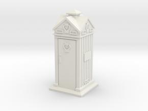 35mm/O Gauge AA Phone Box in White Natural Versatile Plastic