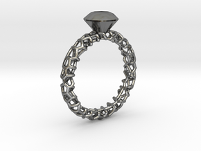 DIAVOROring 19.1mm in Fine Detail Polished Silver