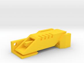 Ingress Portal Key ( 2.25in long ) in Yellow Processed Versatile Plastic