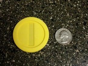 Mario Coin in Yellow Processed Versatile Plastic