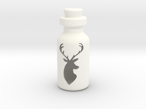 Small Bottle (deer Head) in White Processed Versatile Plastic