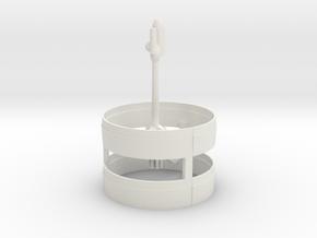 XCV  Spaceship in White Natural Versatile Plastic
