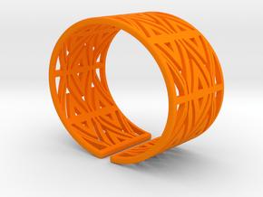 Patterned Cuff Detail 1 in Orange Processed Versatile Plastic
