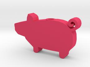 DRAW HC ornament - piggy in Pink Processed Versatile Plastic