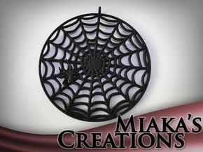 Spiderweb Pendant in Black Natural Versatile Plastic