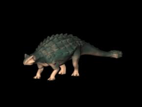Jurassic World Dinosaurs Ankylosaurus Model A.01 in White Processed Versatile Plastic