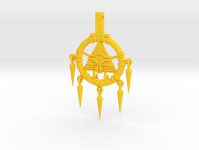 Mini Billennium Ring (Gravity Falls X Yu-gi-oh!) in Yellow Processed Versatile Plastic