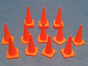1/50 Traffic Cones in Orange Processed Versatile Plastic