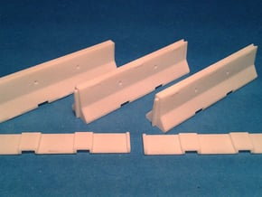 1/50 Jersey Barrier (10 ft/3m) [3 Pack] in White Natural Versatile Plastic
