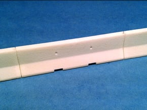 1/50 Jersey Barrier (10 ft/3m) in White Natural Versatile Plastic