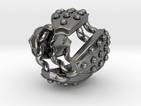 Stadium Ring in Polished Silver
