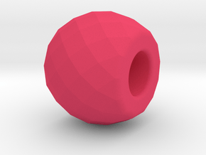 Thursday - Multifaceted Bead in Pink Processed Versatile Plastic
